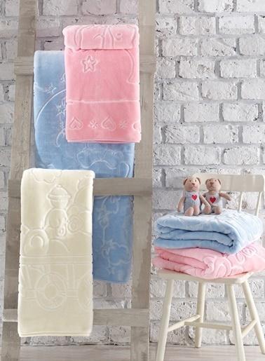 Cotton Box Emboss Bebek Battaniyesi Pembe (100x120) Pembe